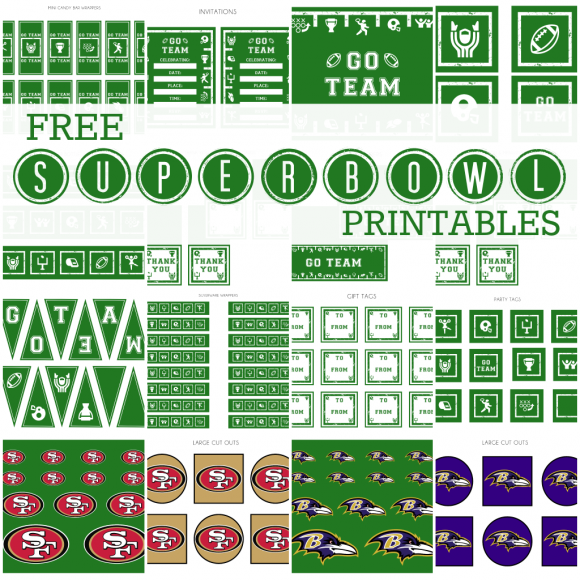 Free Printable Football Banner + Game Day Crafts & More ...