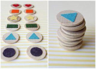 Sugar Crumbs: DIY Felt Matching Game