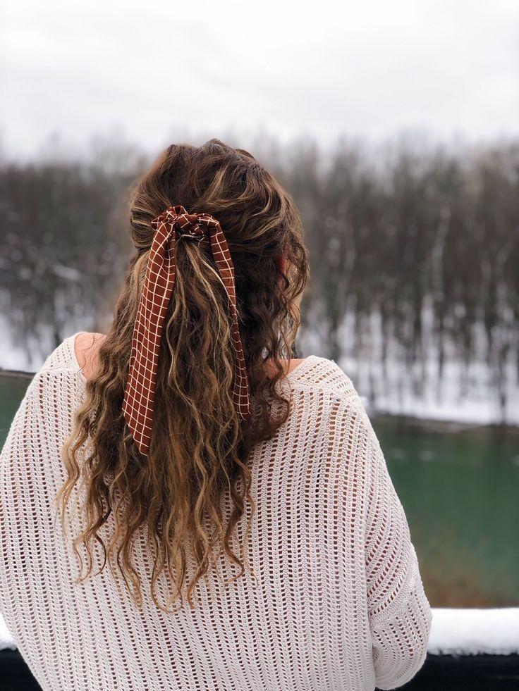 Bow Hair Scrunchie - #hairscrunchie
