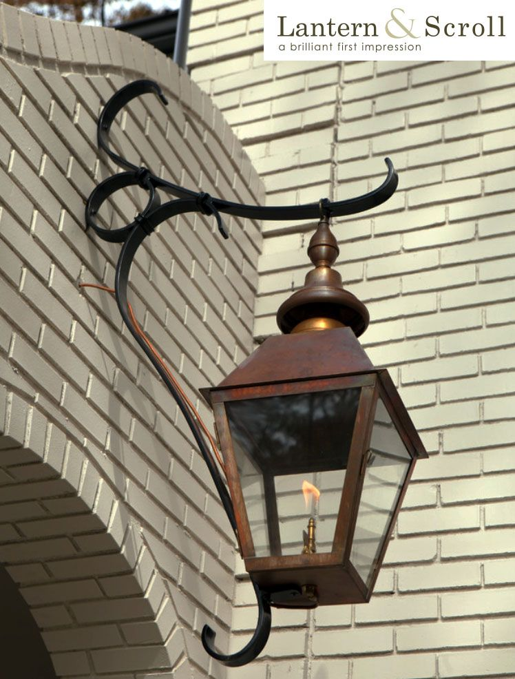 Copper Hanging Light Fixture, Exterior Lighting, Copper Gas Lighting, Gas  Light Fixture, Copper Lantern, Lighting Design, American Made, Simply  Unrivaled.