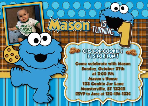 Nice Cookie Monster Birthday Invitations Free Templates Monster Birthday Invitations Monster Party Invitations Monster Birthday Party Invitations