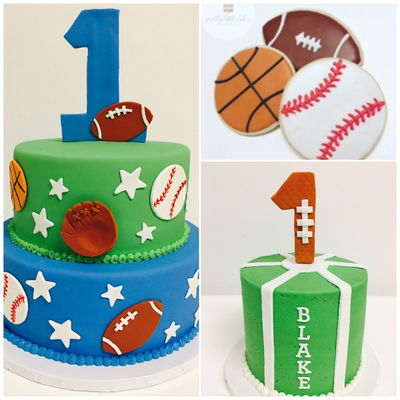 Super All Stars Sports Theme Cake Cookies Smash Cake Sports Funny Birthday Cards Online Alyptdamsfinfo