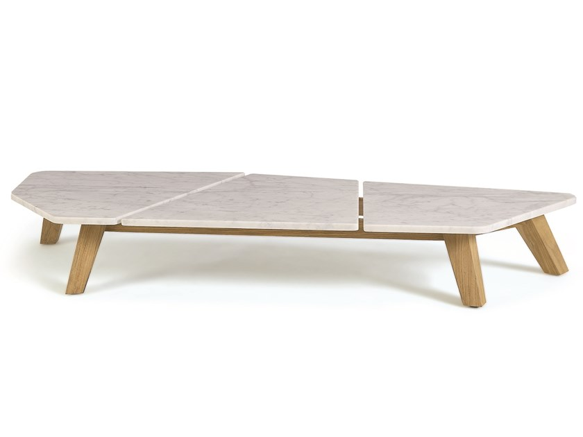 Rafael Marble Coffee Table Rafael Collection By Ethimo Design Paola Navone Table Basse Marbre Table Basse Table Basse Jardin