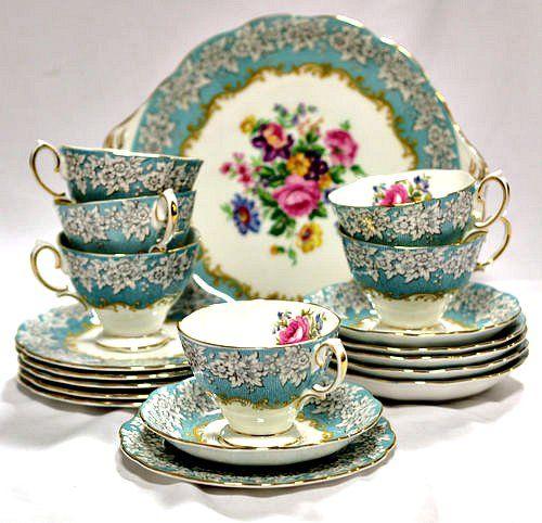 All Sorts Of Vintage Tea Sets China Tea Pots Bakery Displays And Custom Tea Set Display Stand For Sale