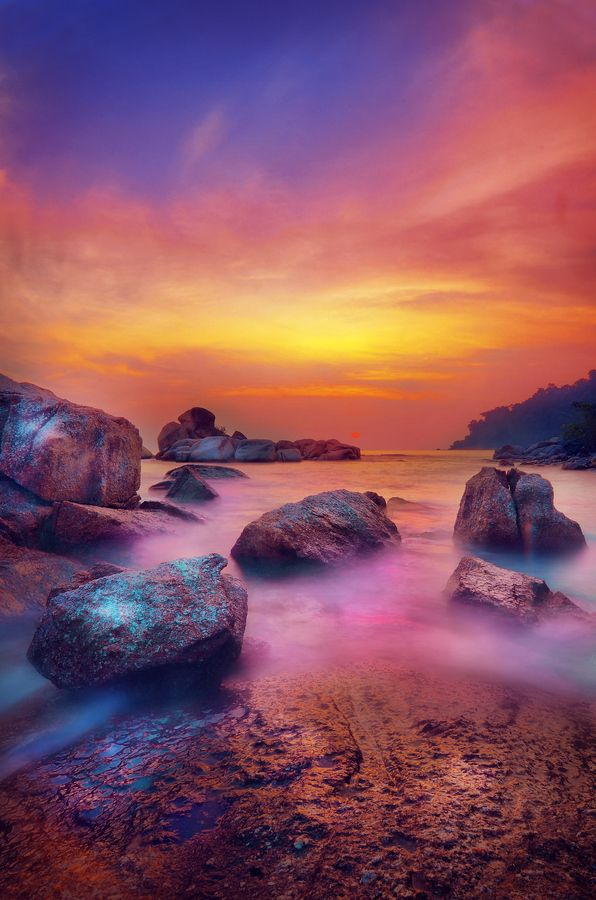 Colorful Pangkor Island, Malaysia.