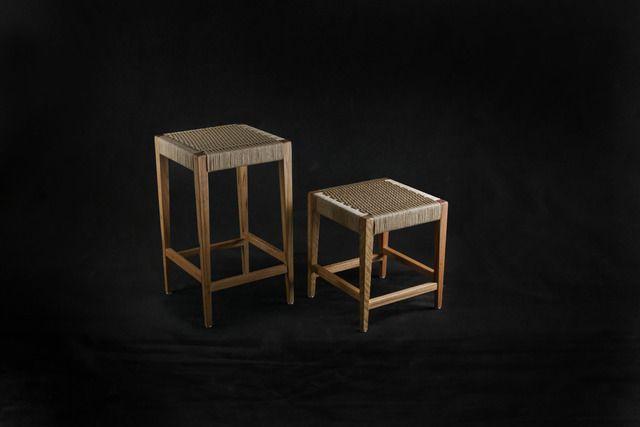 Astonishing Blackbutt Danish Cord Stools By Makimaki Furniture Works Machost Co Dining Chair Design Ideas Machostcouk