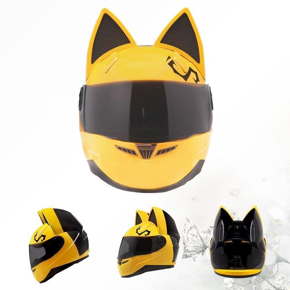 Motorcycle Cat Helmet Helmet Biker Accessories Full Face Helmets