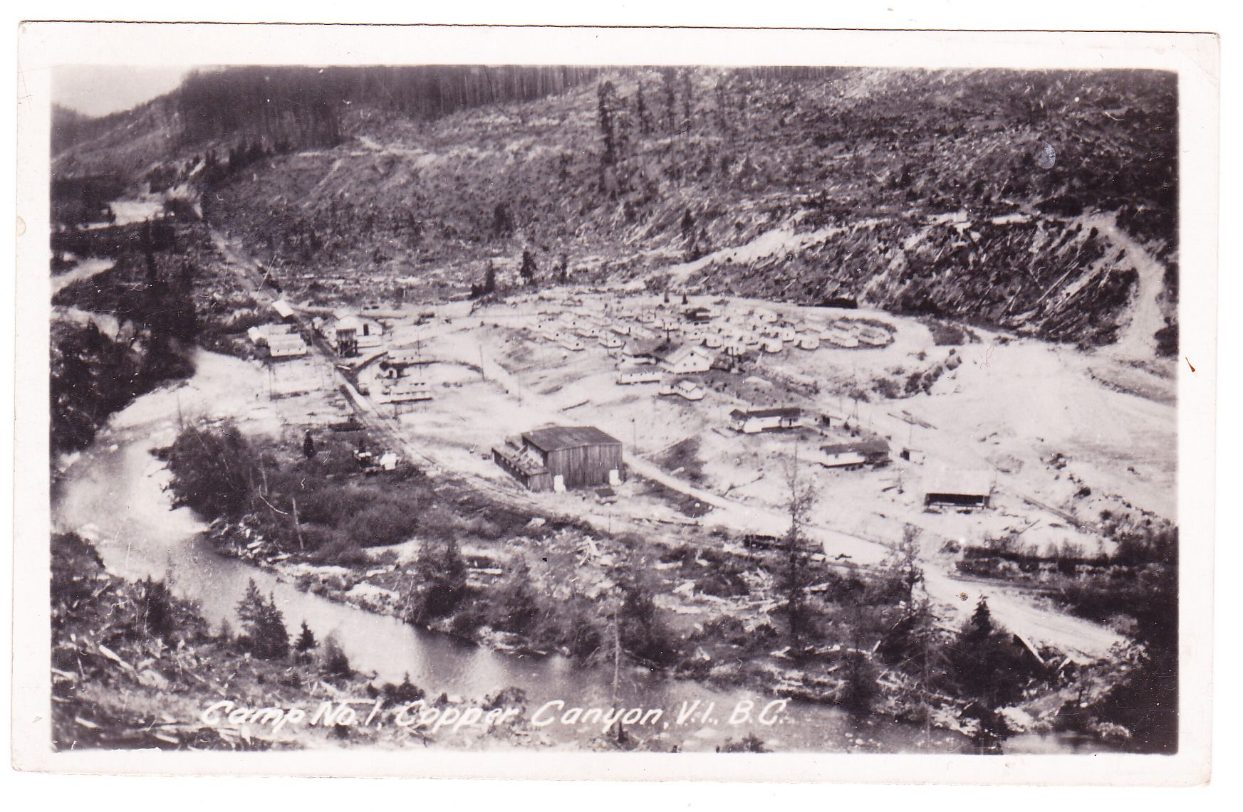 No.1 mining camp along Chemainus River, Vancouver Island