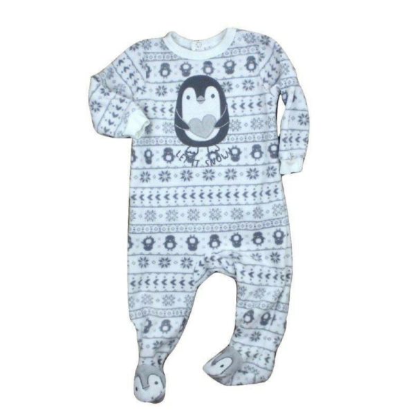Infant Fleece Snowflake Let It Snow Penguin Sleeper Size 6 12 Months 4 Baby Sleepers Baby Clothes Online