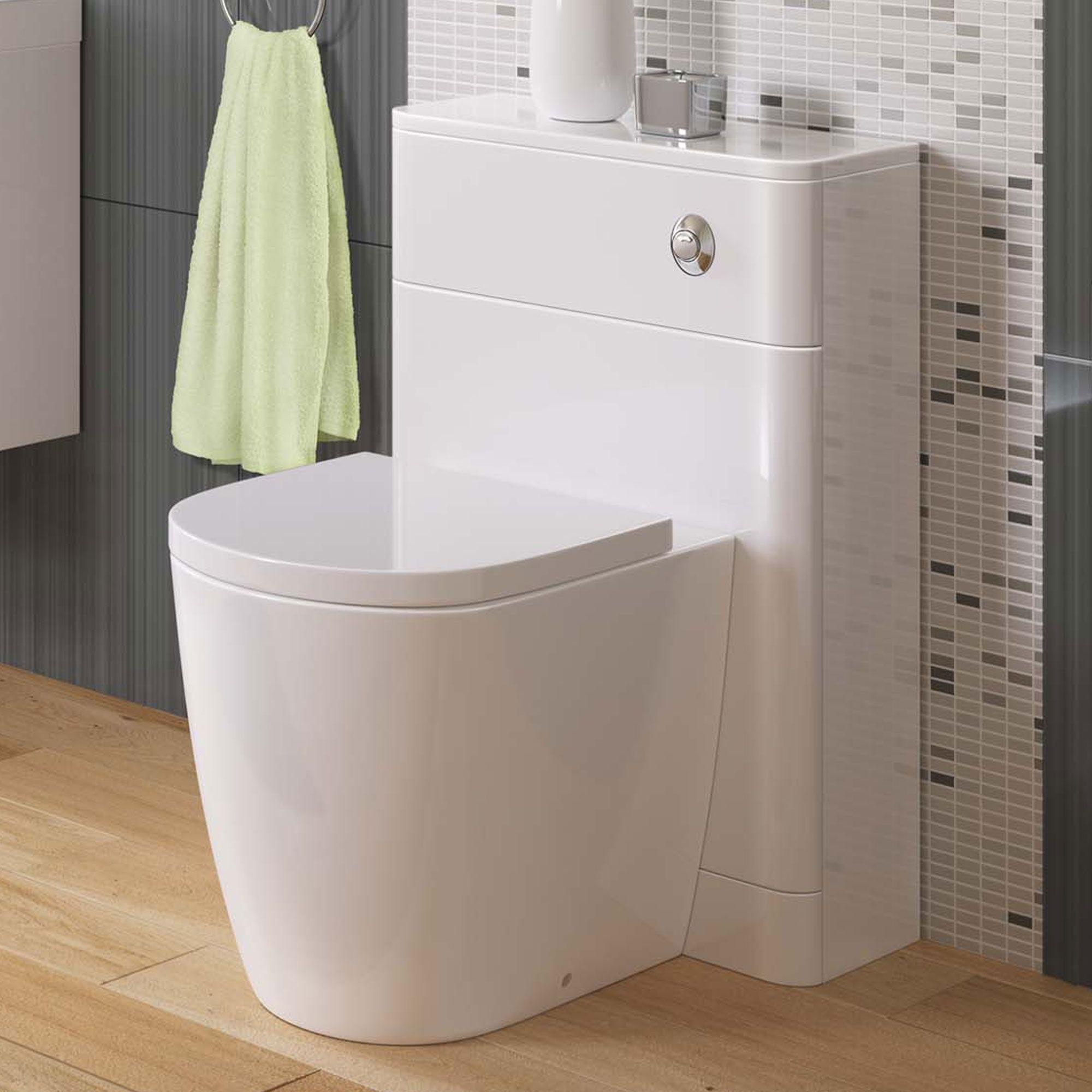Denver Lyon Pan Gloss White Back To Wall Unit | Lyon, Bathroom ...