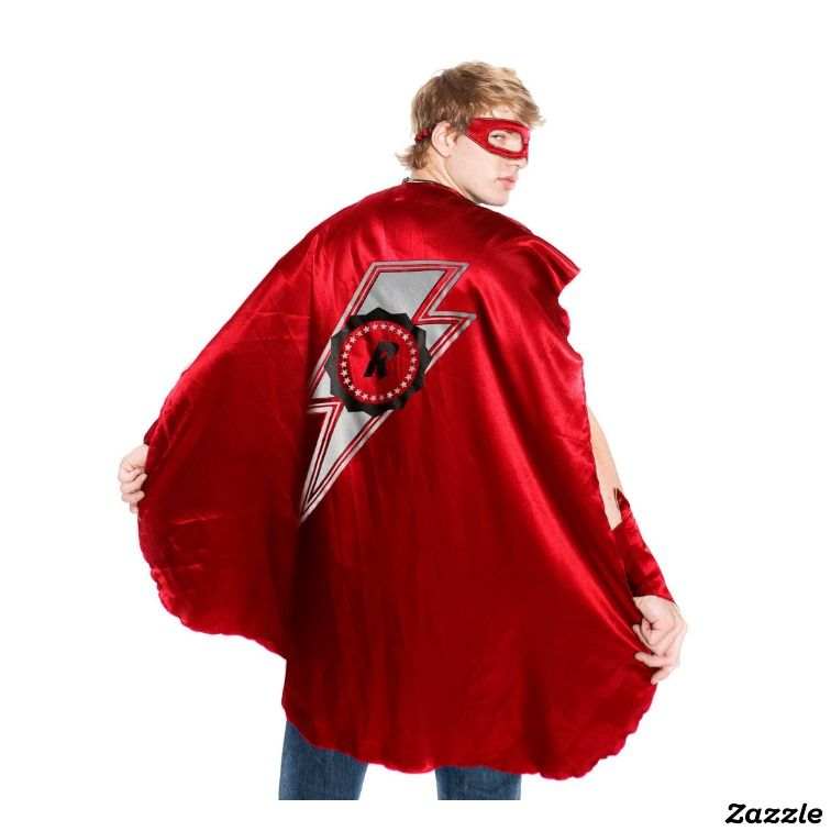 Adult Red Superhero Costume With Lightning Boltmade By Everfan