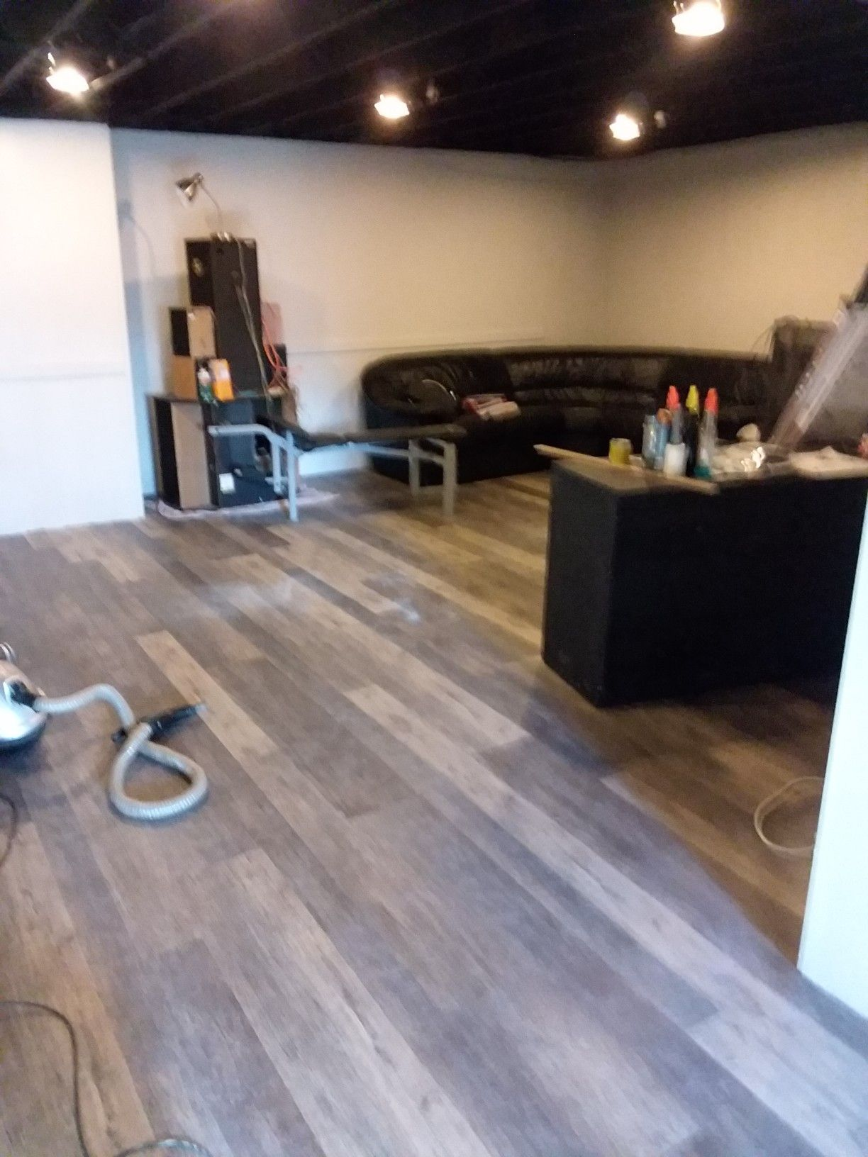 Basement Flooring Is Done February 8th 2019 Now It S Just To Get Things In Their Place Basement Flooring Lifeproof Vinyl Flooring Flooring