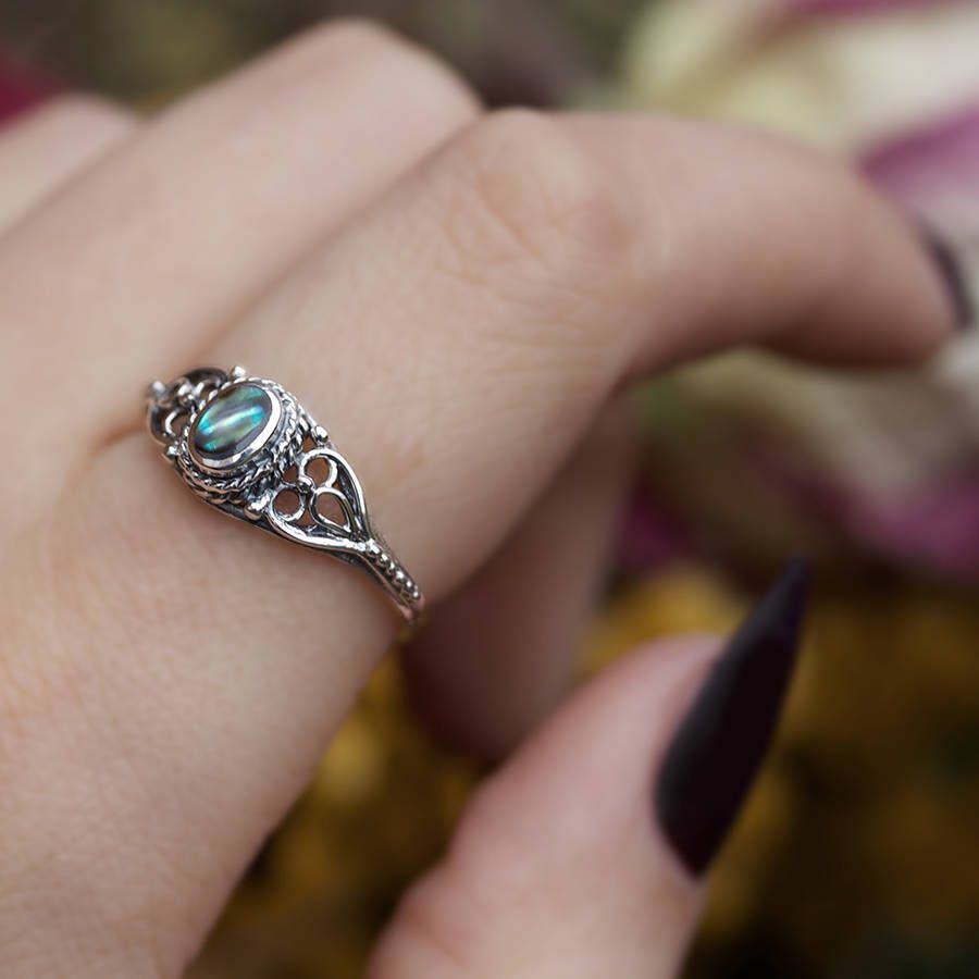 Photo of Antique Sterling Silver Ring With Stone