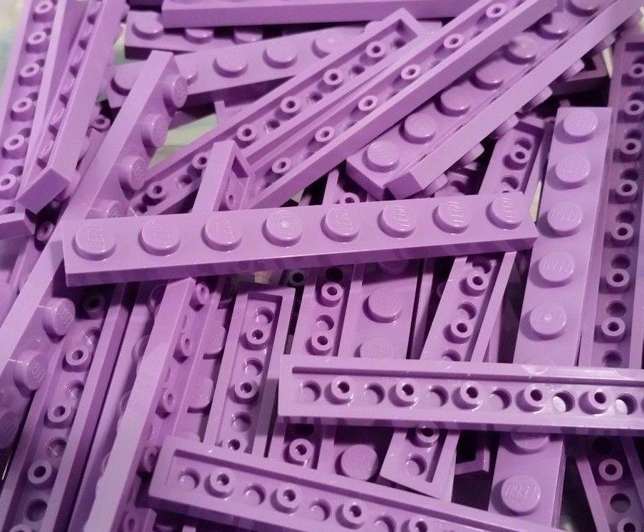1x2 Light Purple 10 Standard Plate Bricks  ~ Lego  ~ NEW Medium Lavender