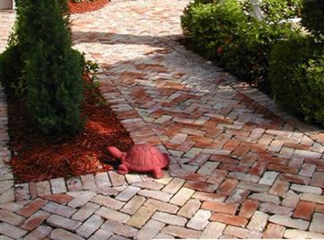 Old Brick Patio Path