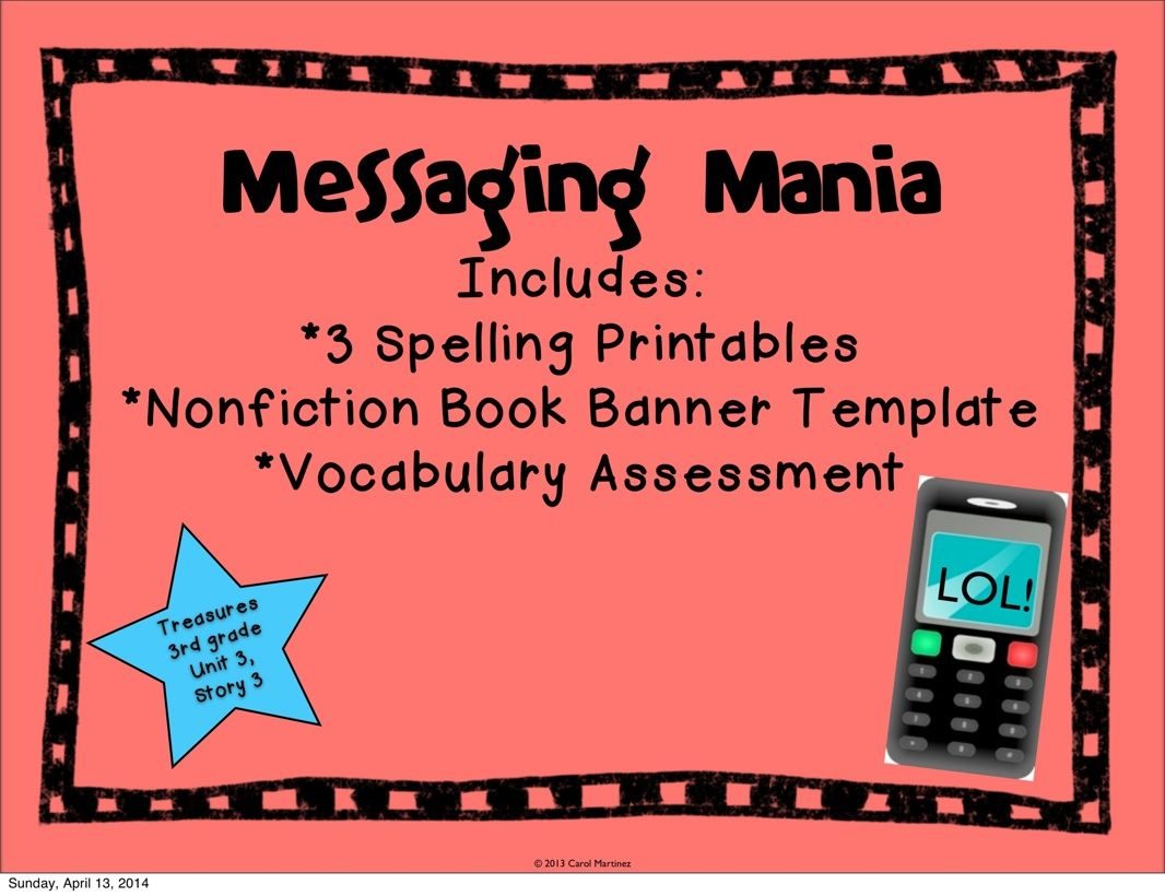 Messaging Mania {Story Booster Pack} is a great addition to your ...