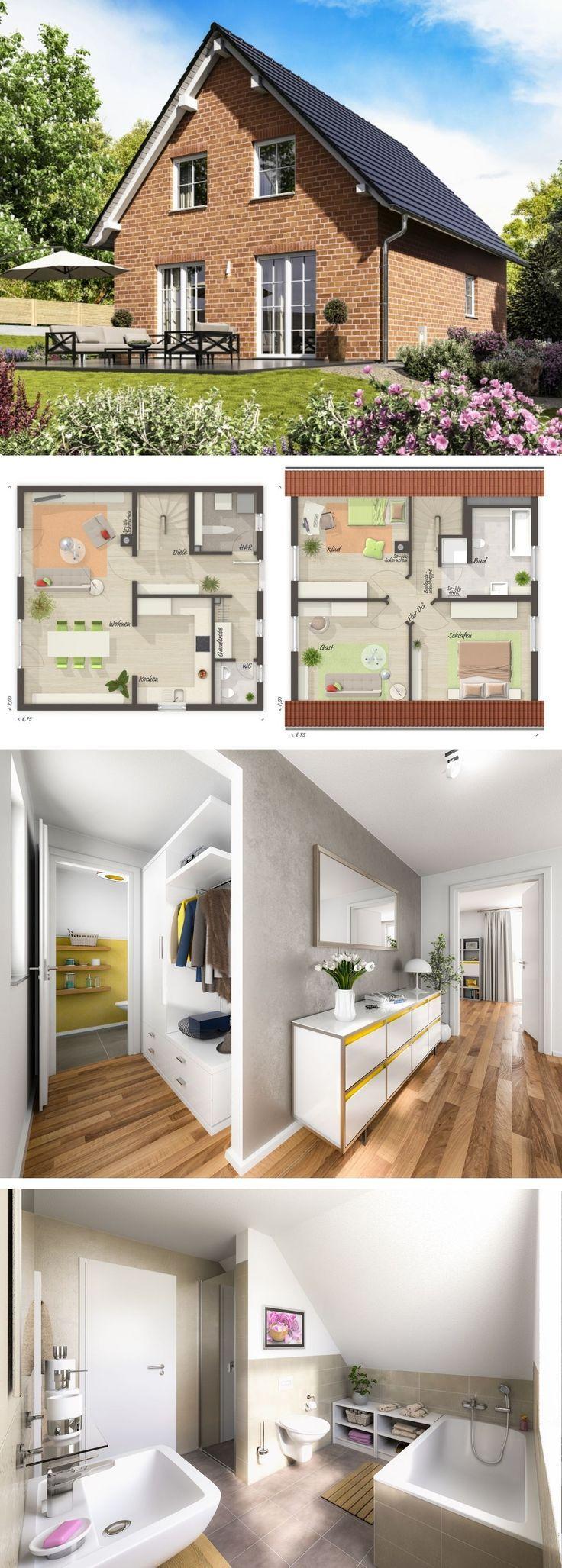 Modernes Massivhaus mit Satteldach Architektur & Klinker