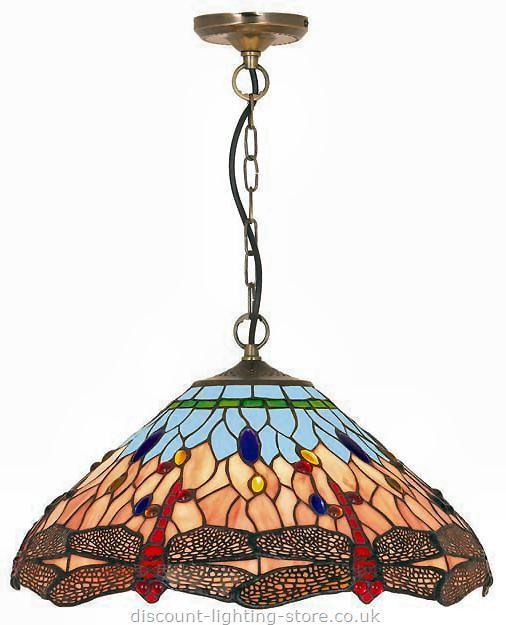 Tiffany Lighting : Tiffany Ceiling Lights : Tiffany Dragonfly Pendant  Ceiling Light
