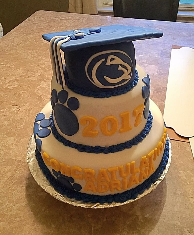 Penn State Graduation Cake Graduation Cakes Graduation Plans Cake