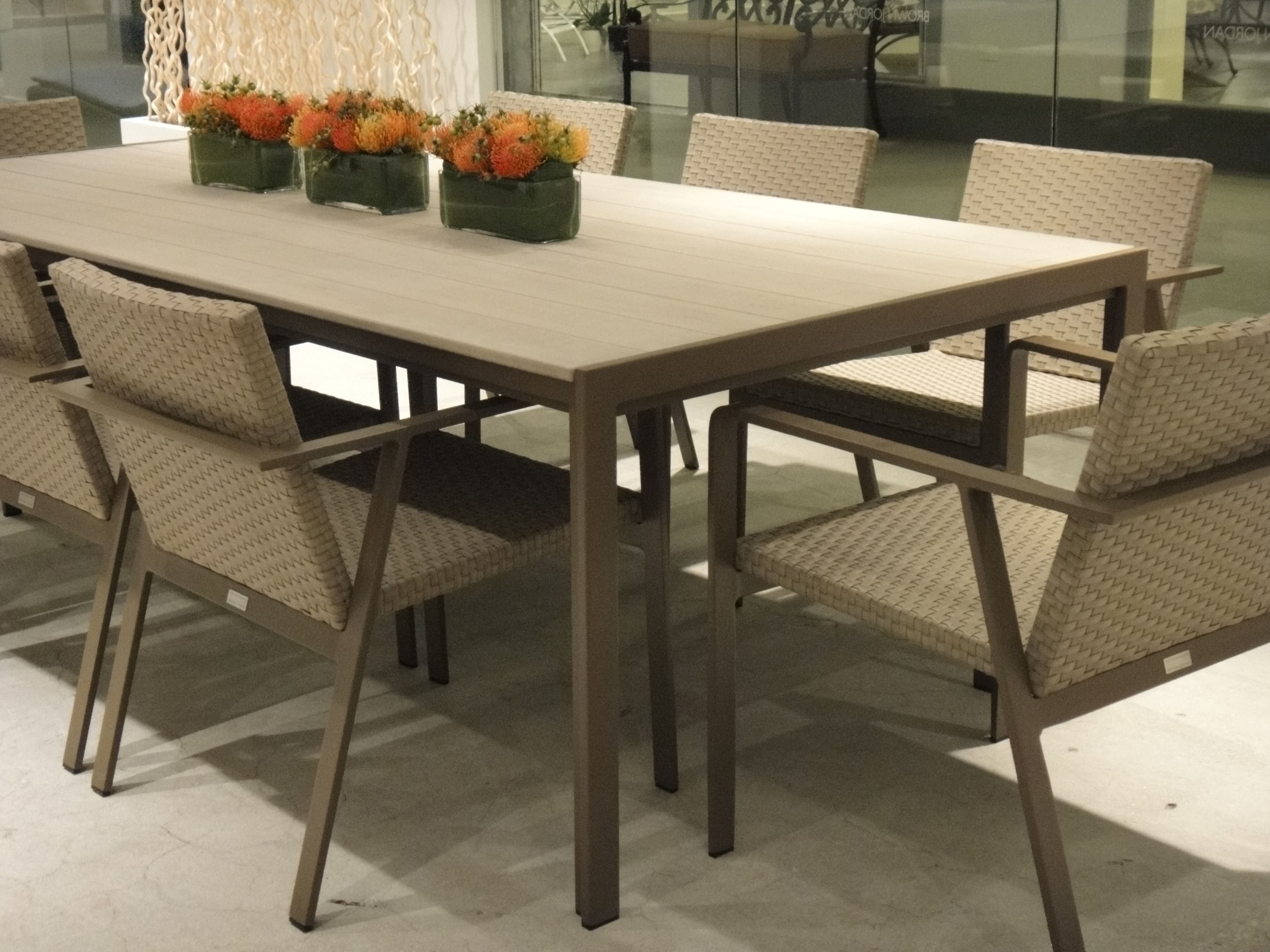 Elements Dining Table Made Of Resinwood And Powder Coated Aluminum