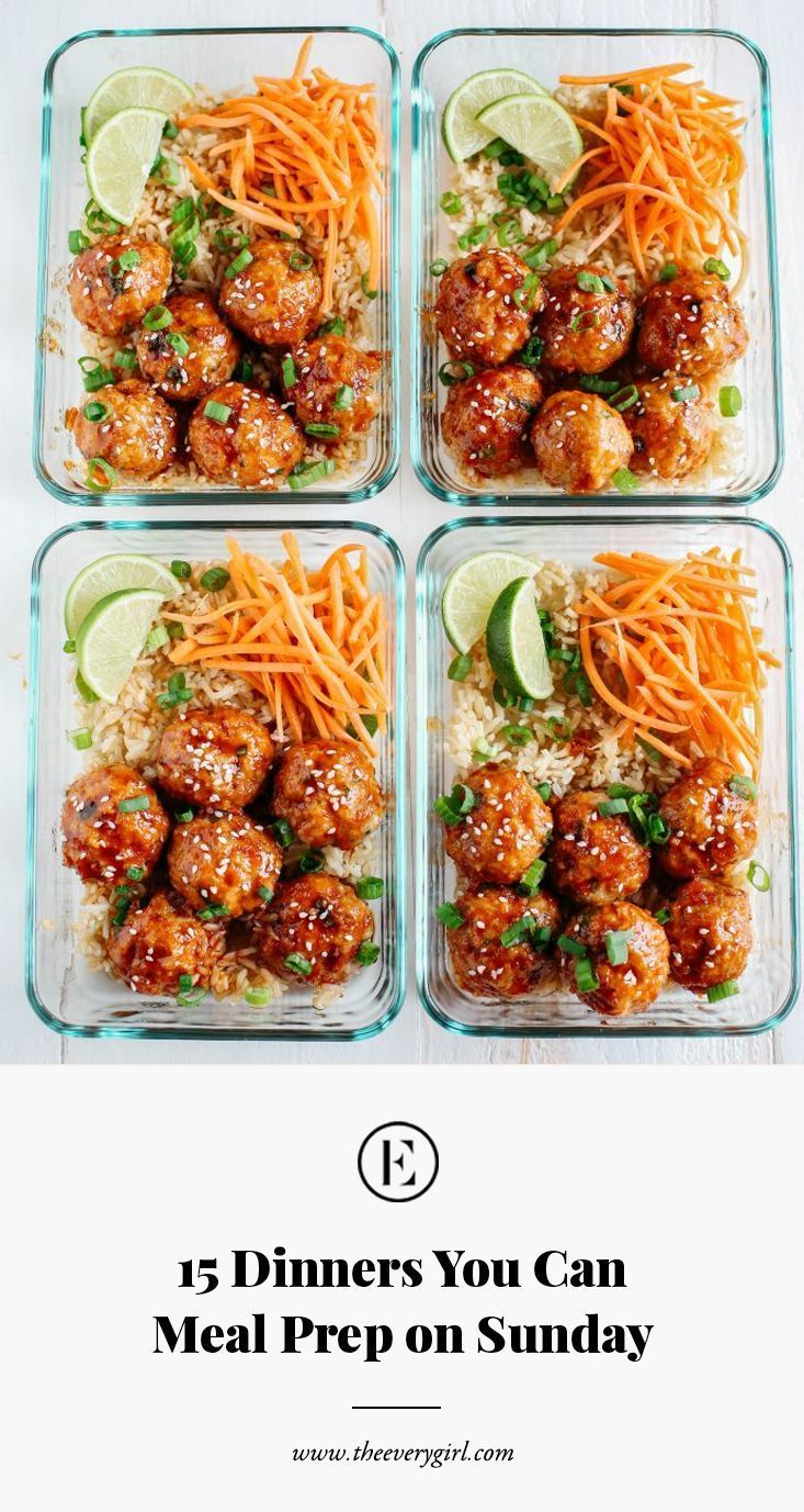 Dinners You Can Meal Prep on Sunday By the time you've commuted home from work, dropped your keys, and rifled through the mail, chances are you wantBy the time you've commuted home from work, dropped your keys, and rifled through the mail, chances are you want