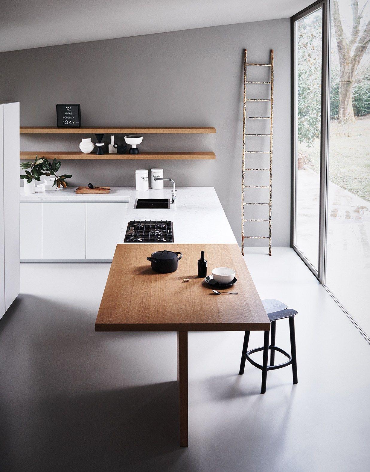 Graue Wände Zu Weißer Küche. #KOLORAT #Wandfarbe #Wohnideen #interior #Grau  #grey