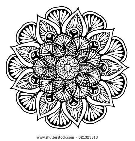 Mandala For Coloring Book Decorative Round Ornaments Unusual Flower Shape Oriental Vector Anti Stress The Boyama Sayfalari Mandala Mandala Boyama Sayfalari