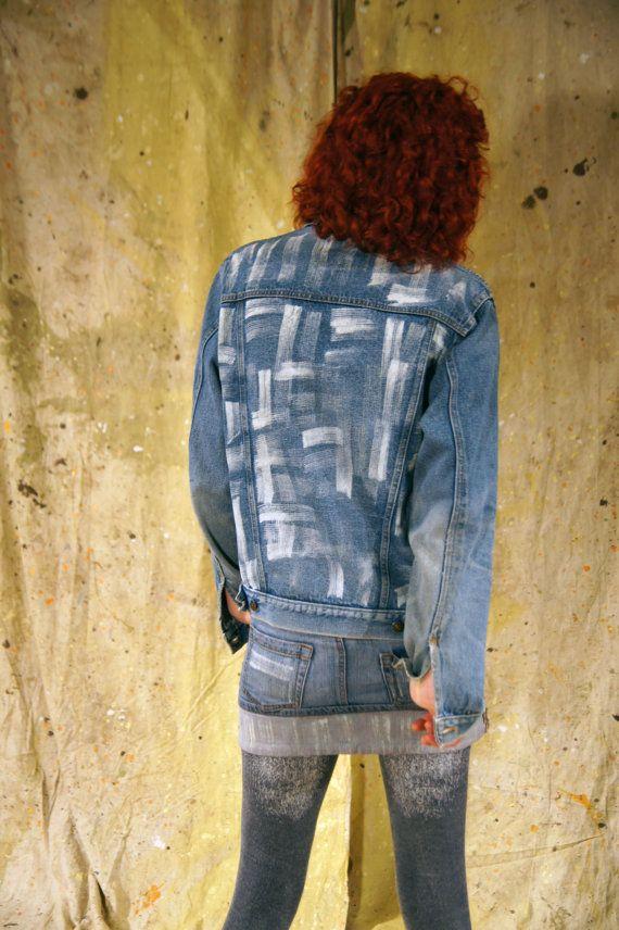 Denim jacket by Masterpiece Apparel hand by BleachItandDyedenim
