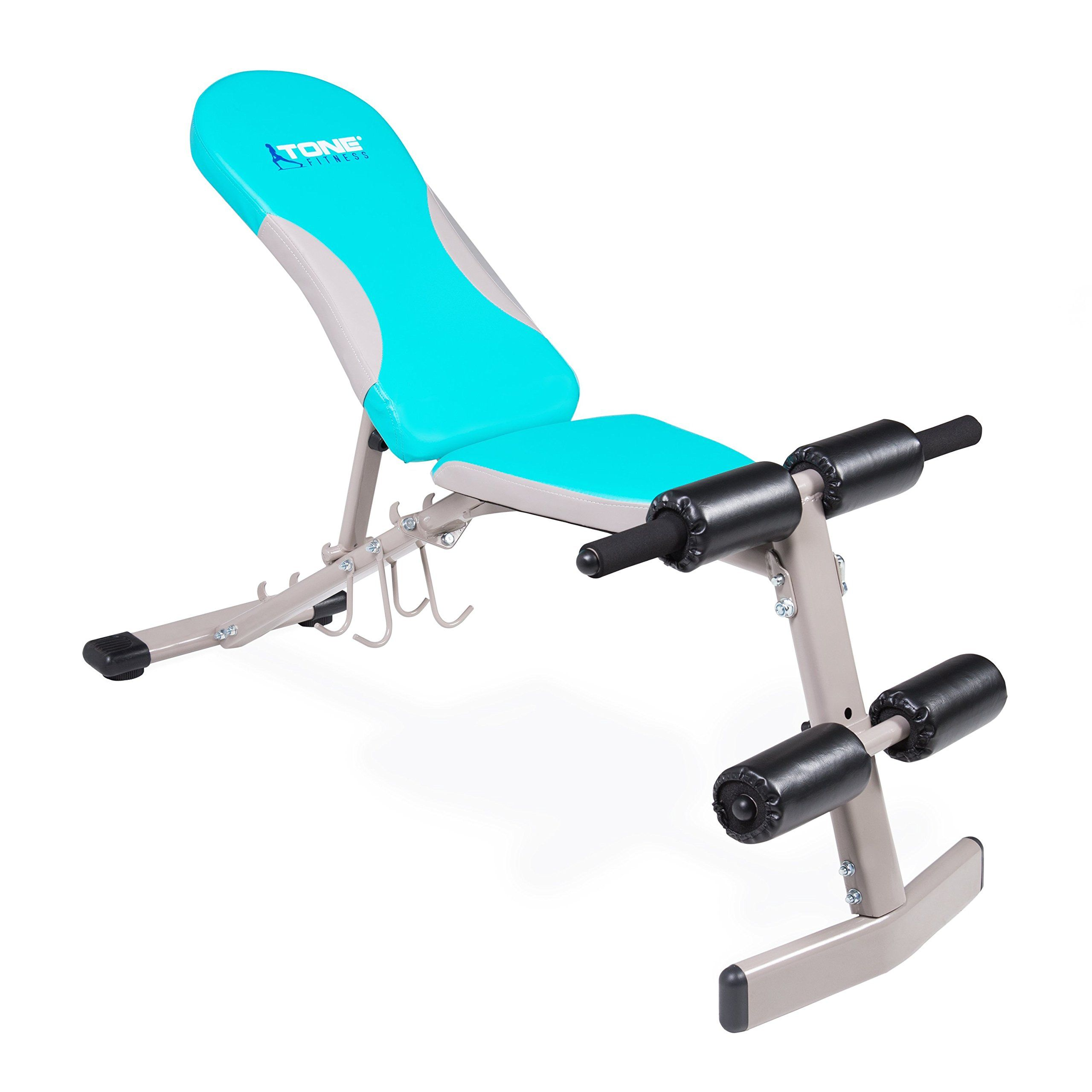 Tone Fitness Flat/Incline/Decline Bench >>> See this
