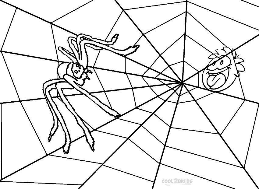 Printable Spider Web Coloring Pages For Kids Cool2bkids Spider Coloring Page Frog Coloring Pages Halloween Coloring Pages