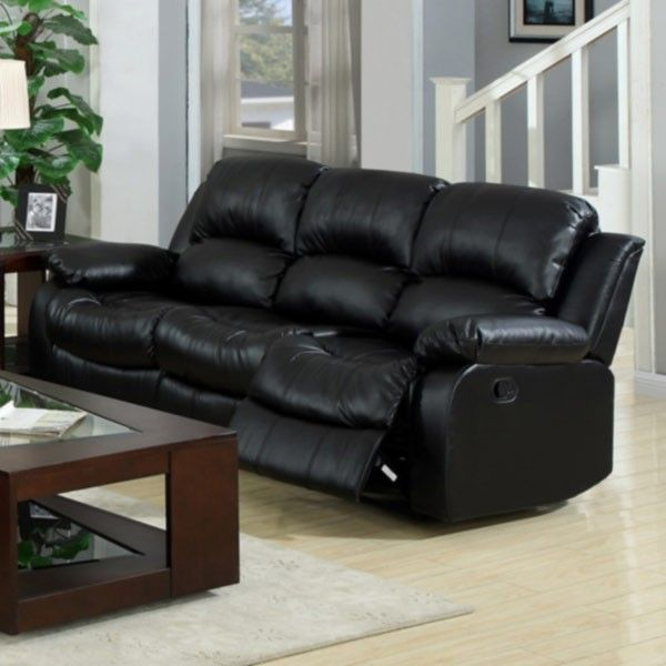 Myco Furniture Kaden Leather Reclining Sofa With Pillow