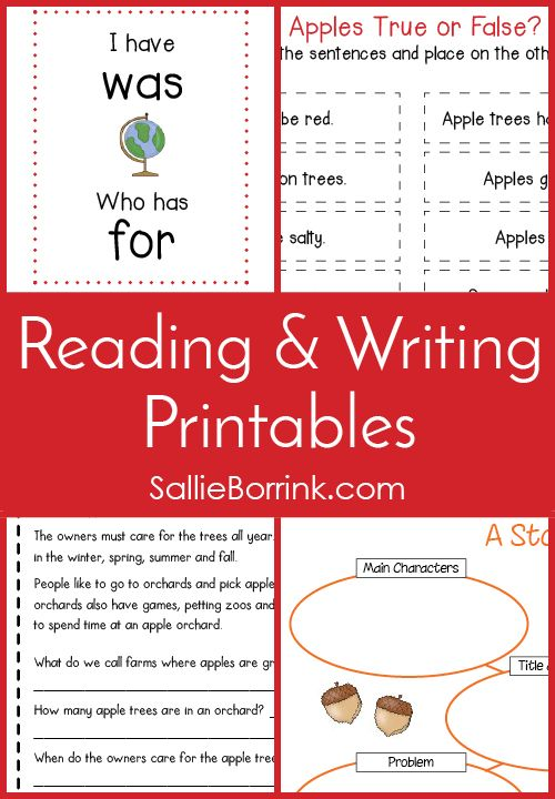 Simplify your planning with reading and writing printables – just download, print and go. There are so many fun printables for practicing a wide variety of skills and learning about many popular topics at the same time. Whether you are looking for literacy printables, writing prompt printables, literacy center printables, sentence scramble printables or complete themed literacy units… You can find it here!