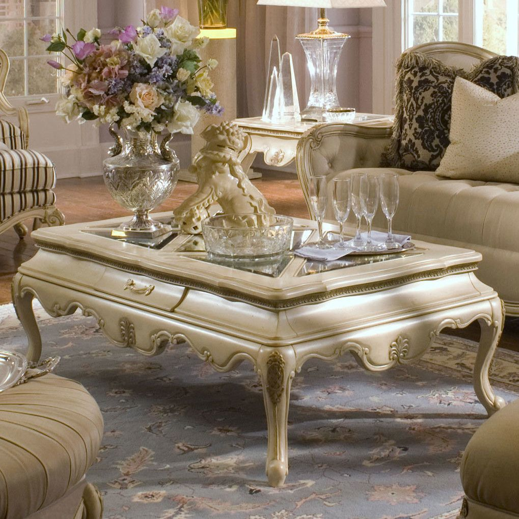 French Country Living Room Coffee Table: Michael Amini Lavelle Coffee Table Set