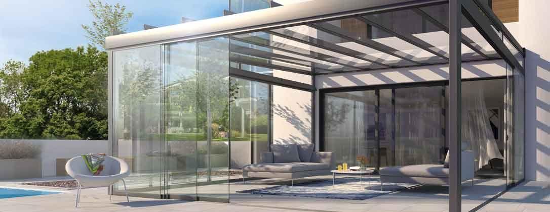 AREA slide Terrassendach, Terrassen dach, Anbau gartenhaus