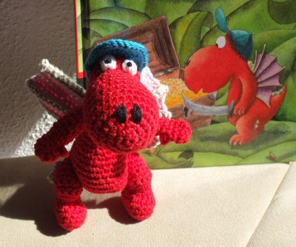 Der kleine Drache Kokosnuss gehäkelt, häkeln, crocheted dragon ...