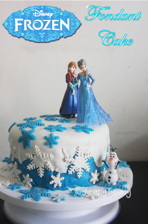 Astonishing Frozen Themed Fondant Cake Recipe With Images Frozen Themed Funny Birthday Cards Online Overcheapnameinfo