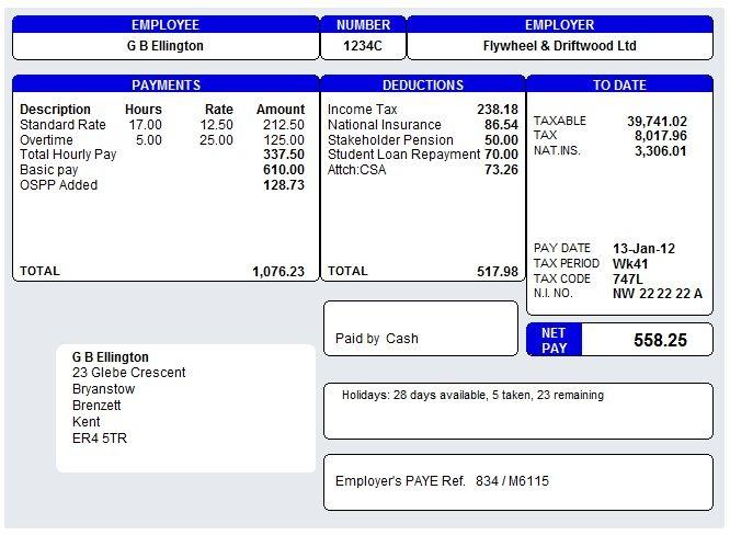 19 Salary Slip Templates Templates Word Template Payroll Template