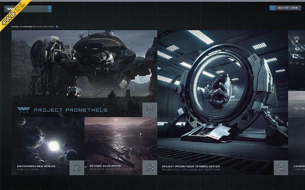 Prometheus - Digital Campaign by Andrew Burdin, via Behance