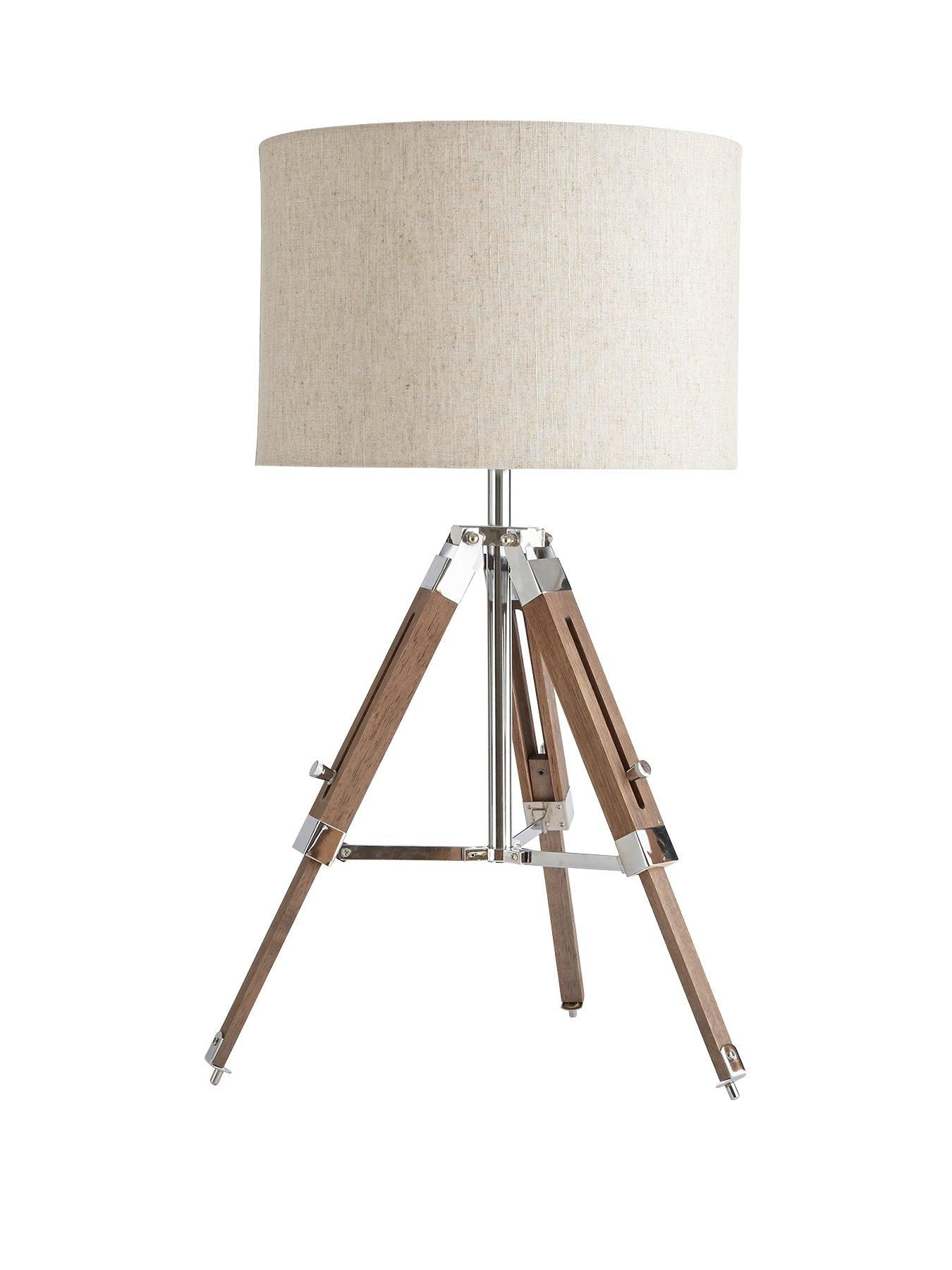 Ideal Home Loki Wooden Tripod Table Lamp In 2019 Lighting
