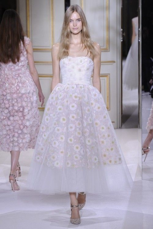 Mirte Maas on the runway at Giambattista Valli HC, Spring 2013