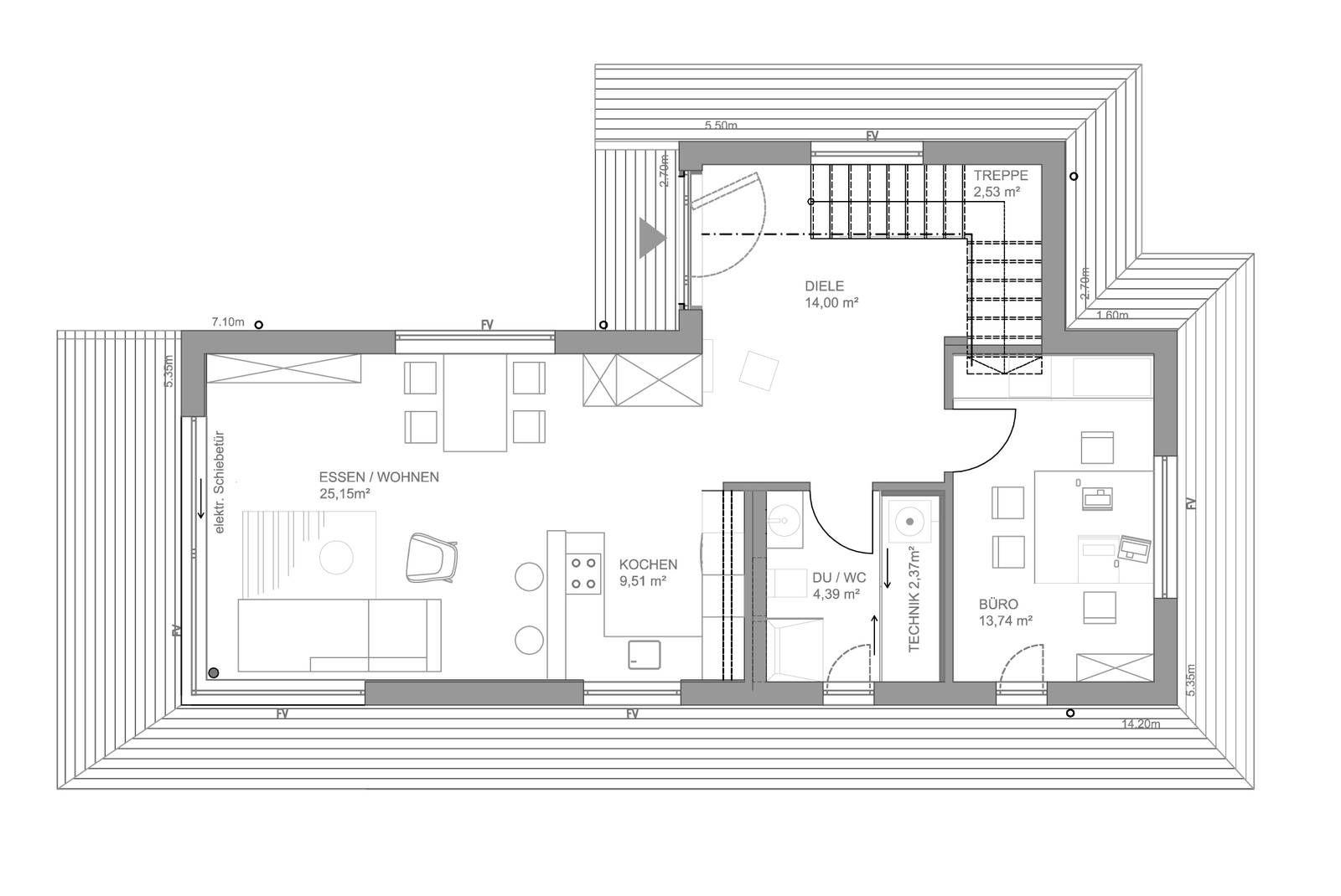 Hausdetail architektur pinterest grundrisse und for Architektur einfamilienhaus grundrisse