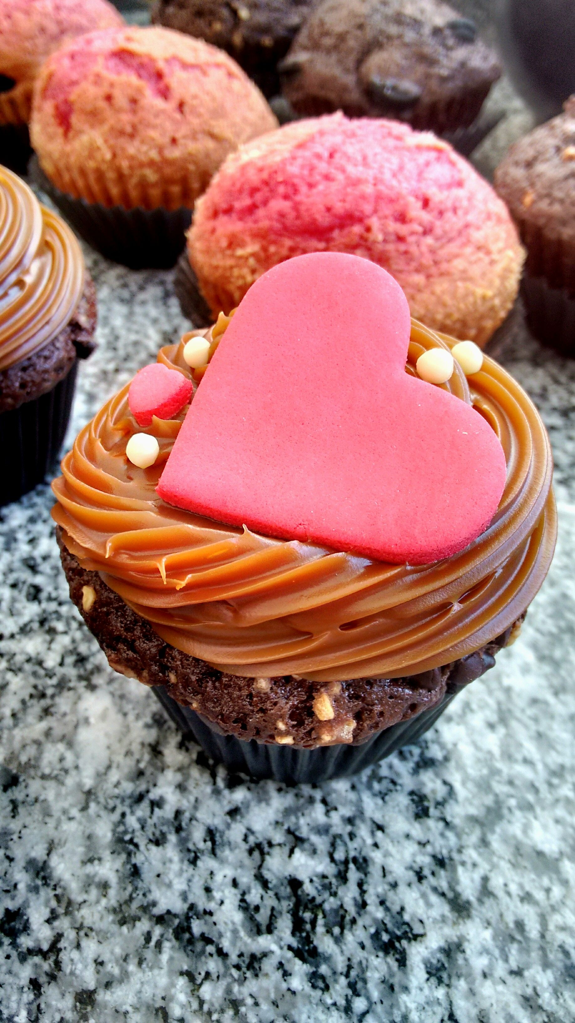 Cupcakes for Valentine's Day <3