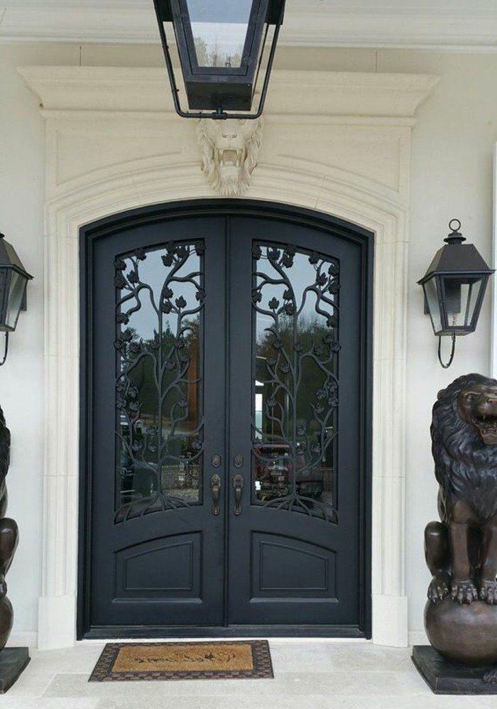 Porte en fer forg plus de 40 mod les fascinants porch front door portes de fer porte - Porte fer forge exterieur ...