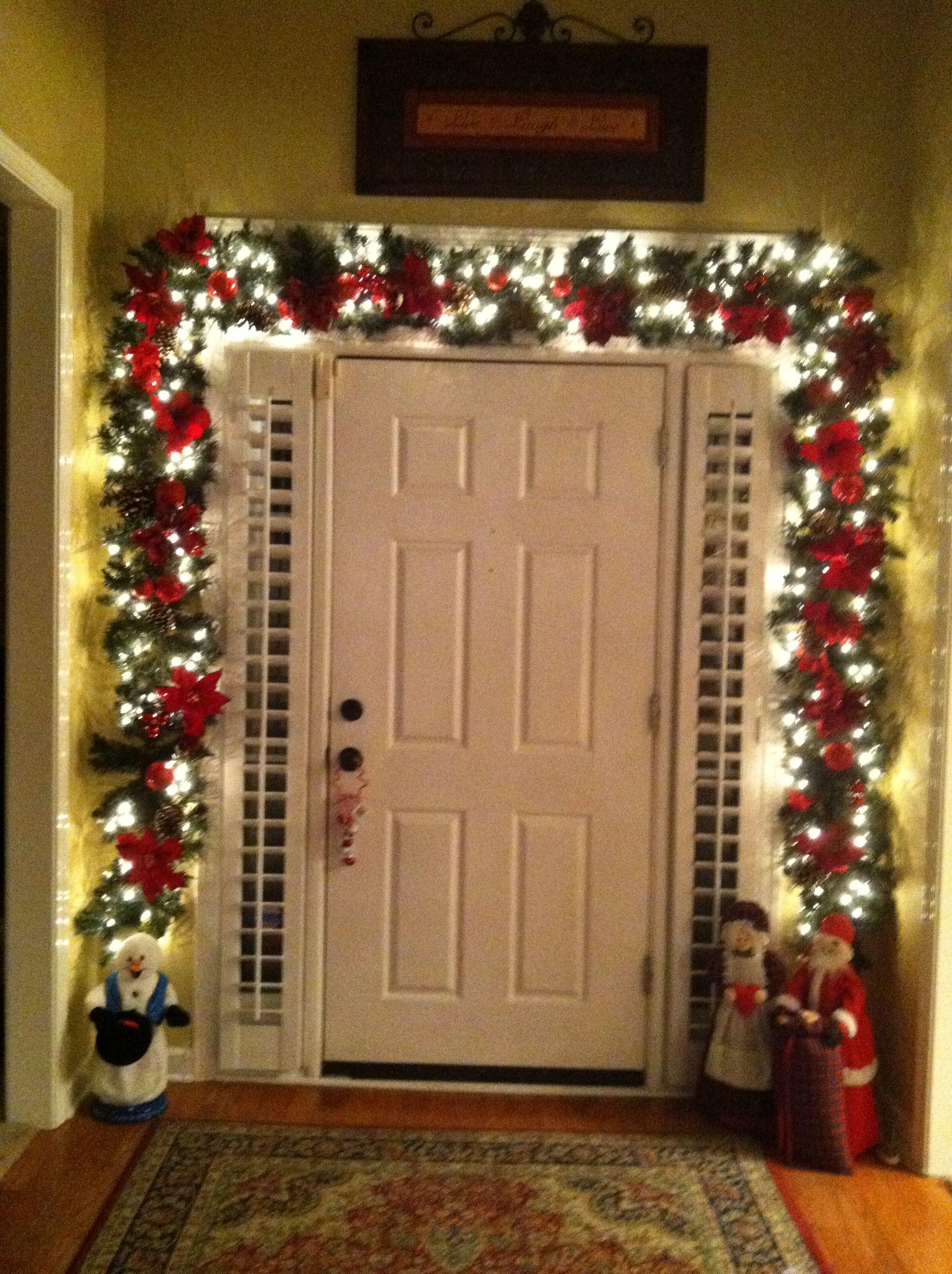 Costco garland! Christmas Christmas porch, Christmas