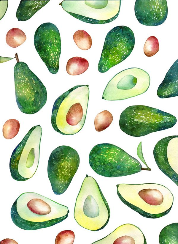 avocado on Behance watercolor Pinterest Behance