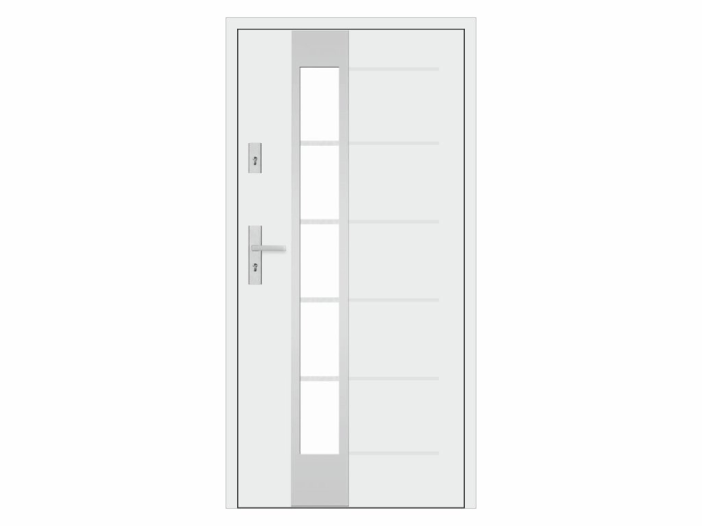 Steel entrance door – STALPRODUKT 55, T41 / S37, white + front …