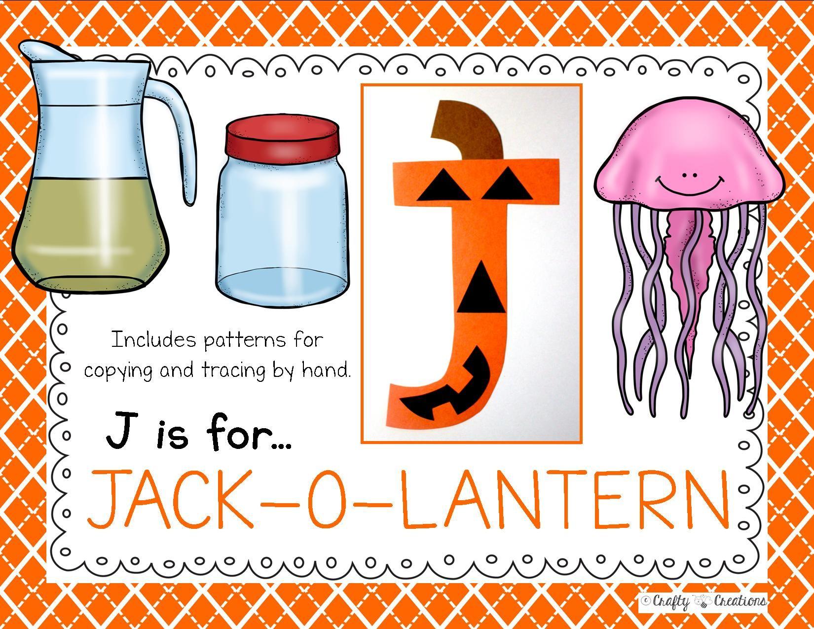Letter J Craft Jack O Lantern
