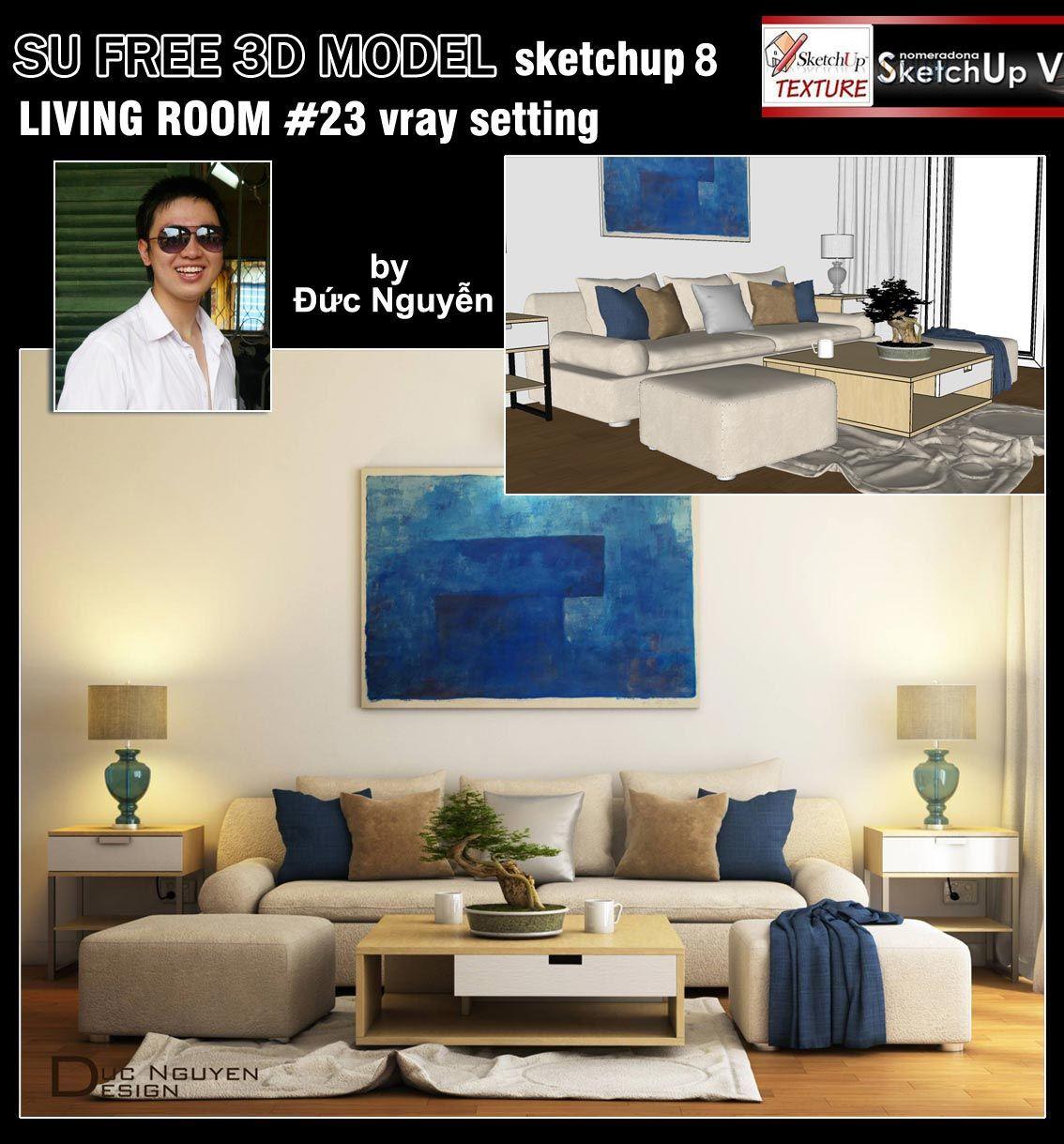 SKETCHUP TEXTURE: Free sketchup 3d model moderne living room #23 ...