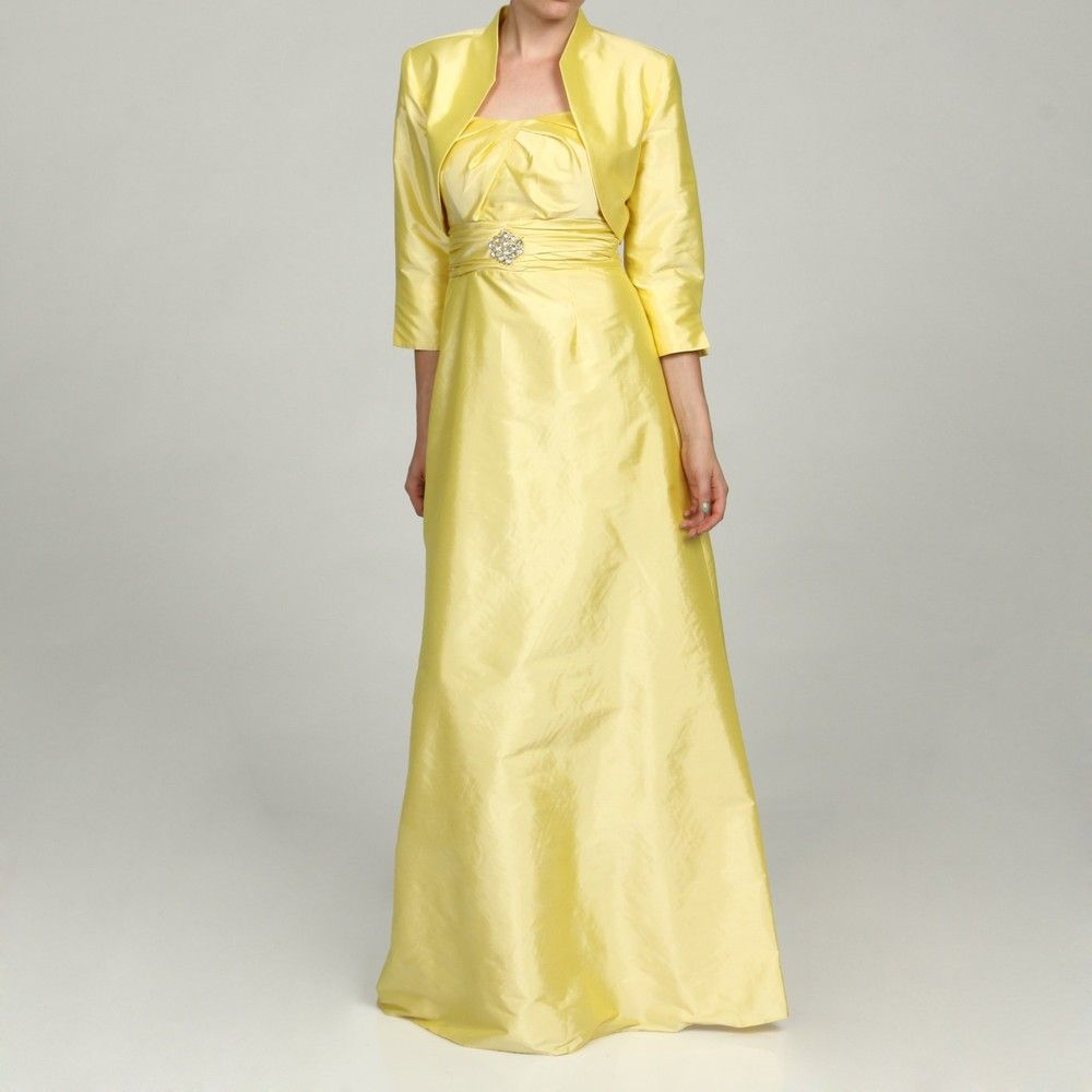 Eliza j womenus piece yellow dress overstock outfits i