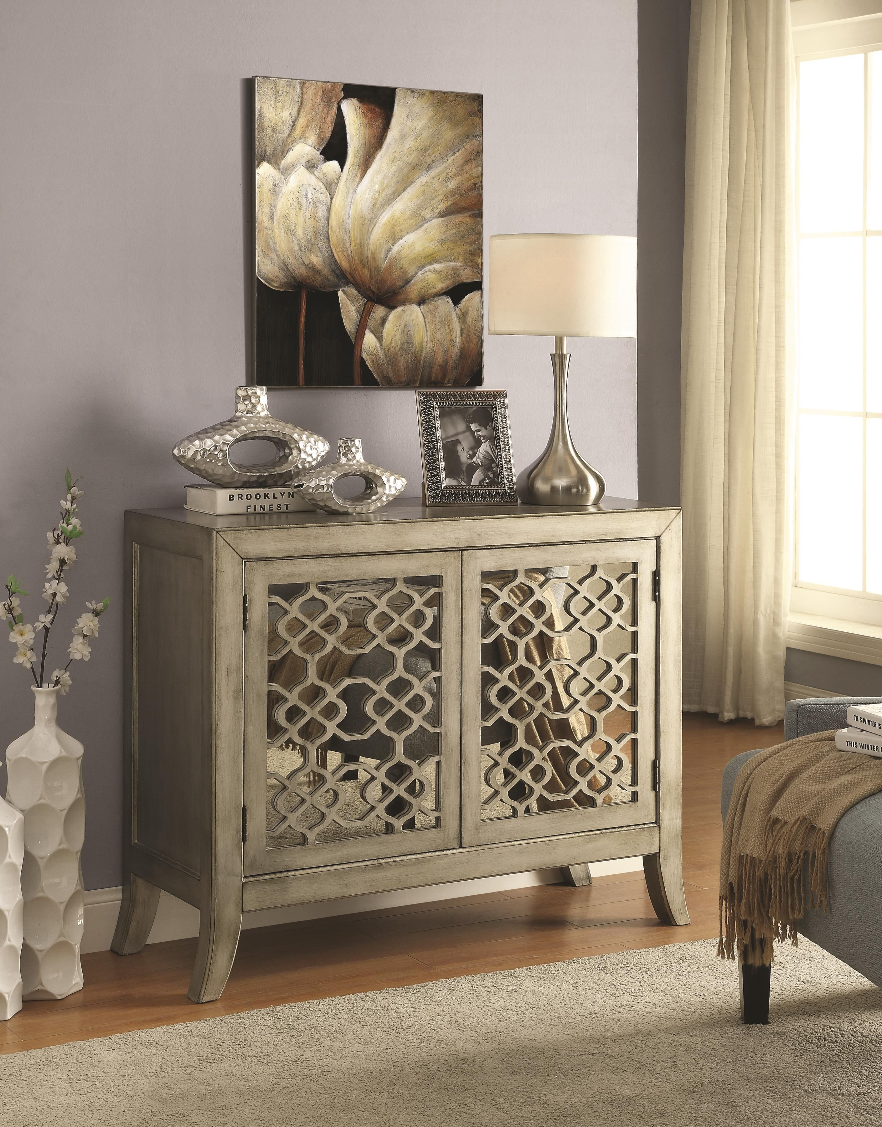 Best Coaster Accent Cabinets Accent Cabinet W Lattice Overlay 400 x 300